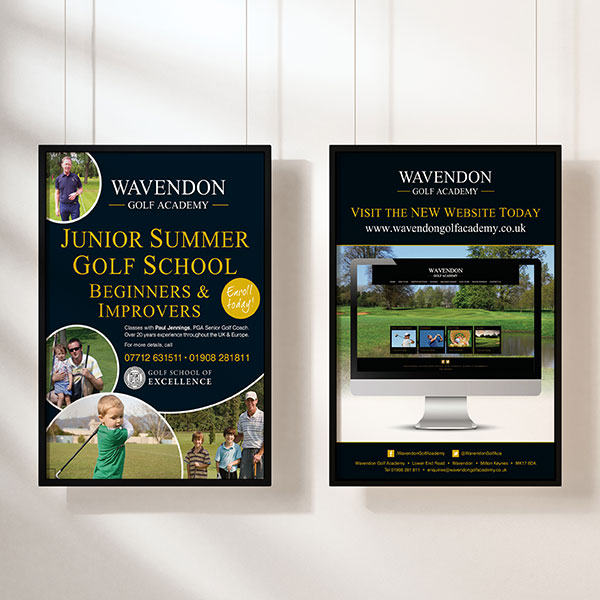 Wavendon Golf Academy Promotional Posters
