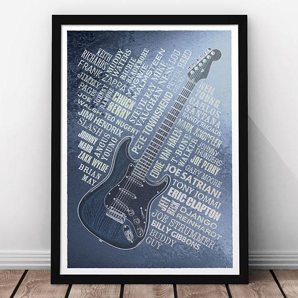 Artetype Guitar Legends Print