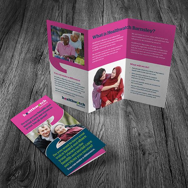 Healthwatch Barnsley Tri Fold Leaflet