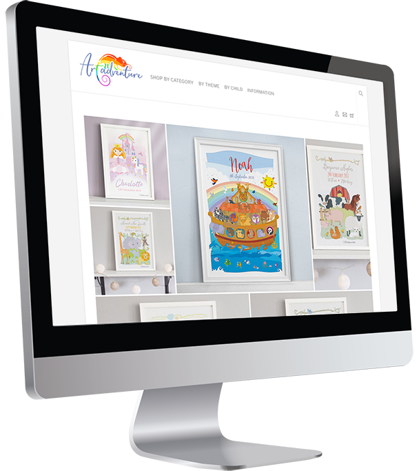 Art Adventure E-commerce Website Design by Damian Edwards, Freelance Graphic Designer