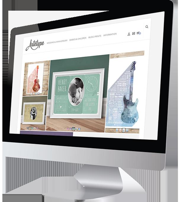 Artetype Responsive Website Design by Damian Edwards, Freelance Graphic Designer
