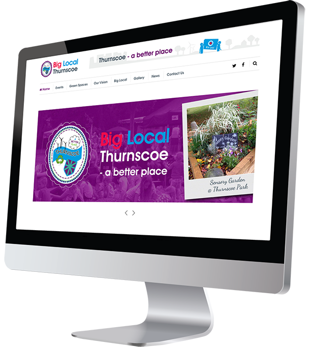 Big Local Thurnscoe Responsive Website Design created by Damian Edwards, Freelance Graphic Designer