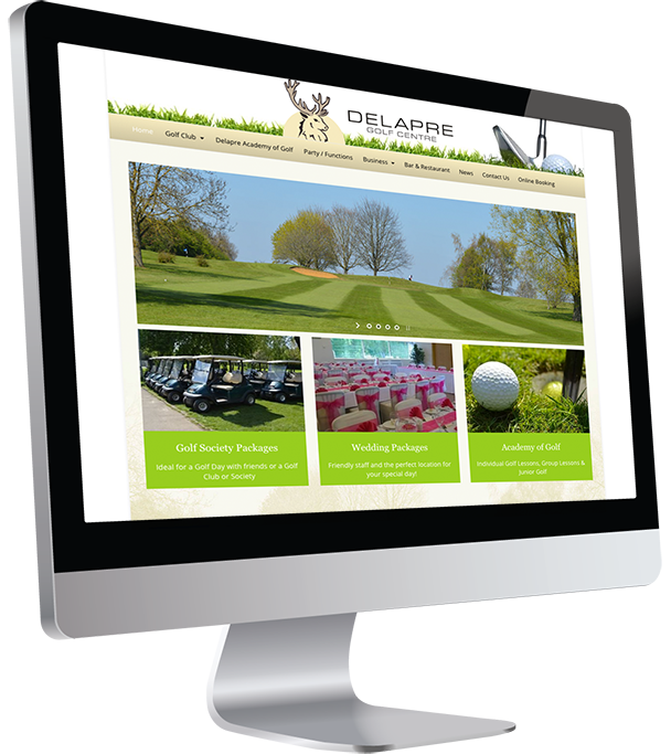 Delapre Golf Centre Responsive Website Design