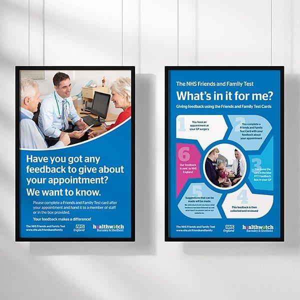 Healthwatch Barnsley FFT Poster Designs