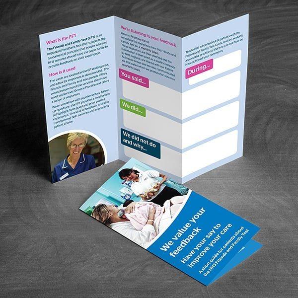 Healthwatch Barnsley FFT Leaflet Design